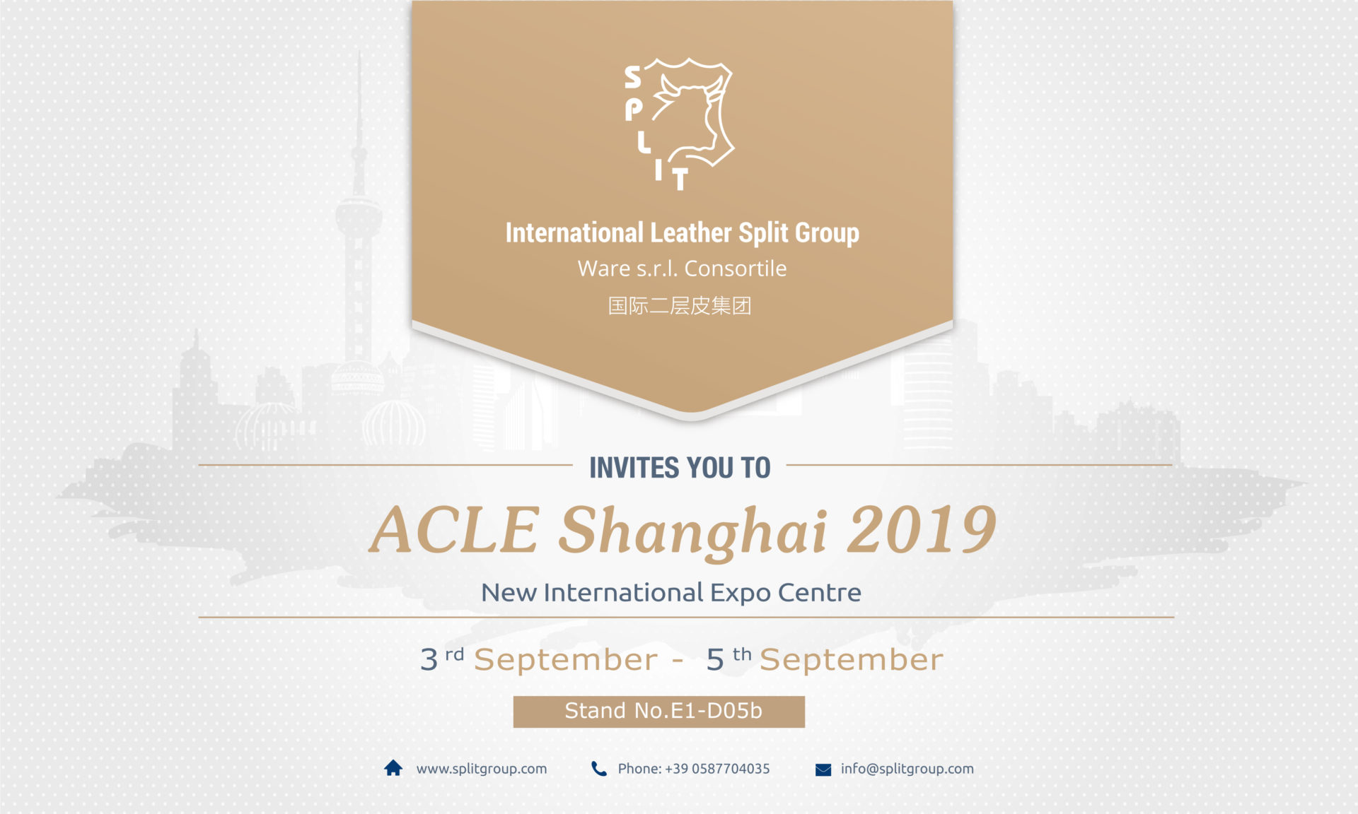 ACLE Shanghai 2019 - International Leather Split Group